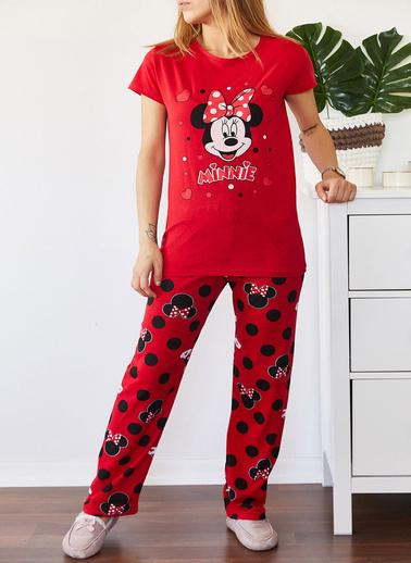 XHAN Baskılı Pijama Takımı 0Yxk8-43689-04 Kırmızı